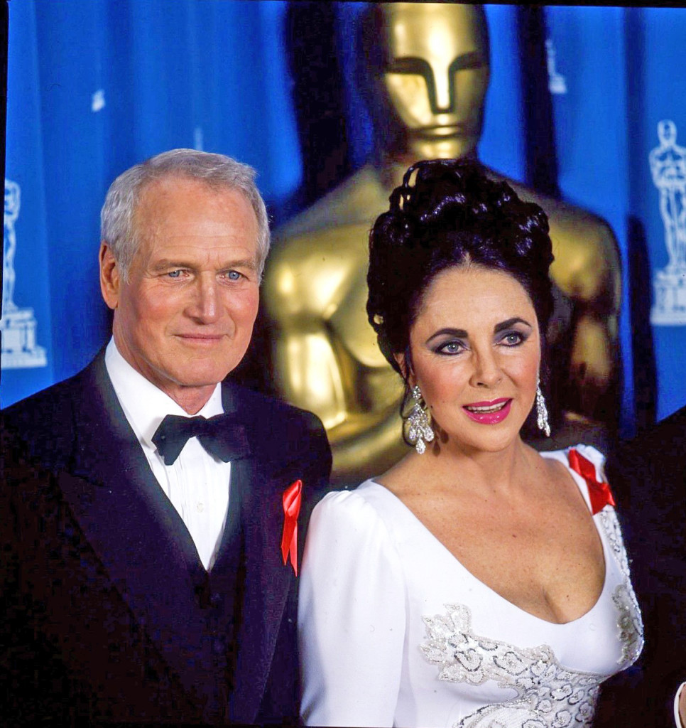 Paul Newman and La Liz at the 1992 Oscars